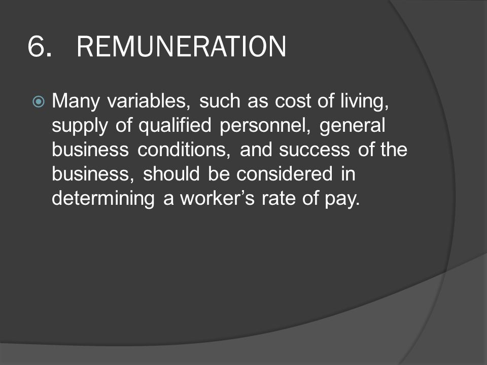6. REMUNERATION