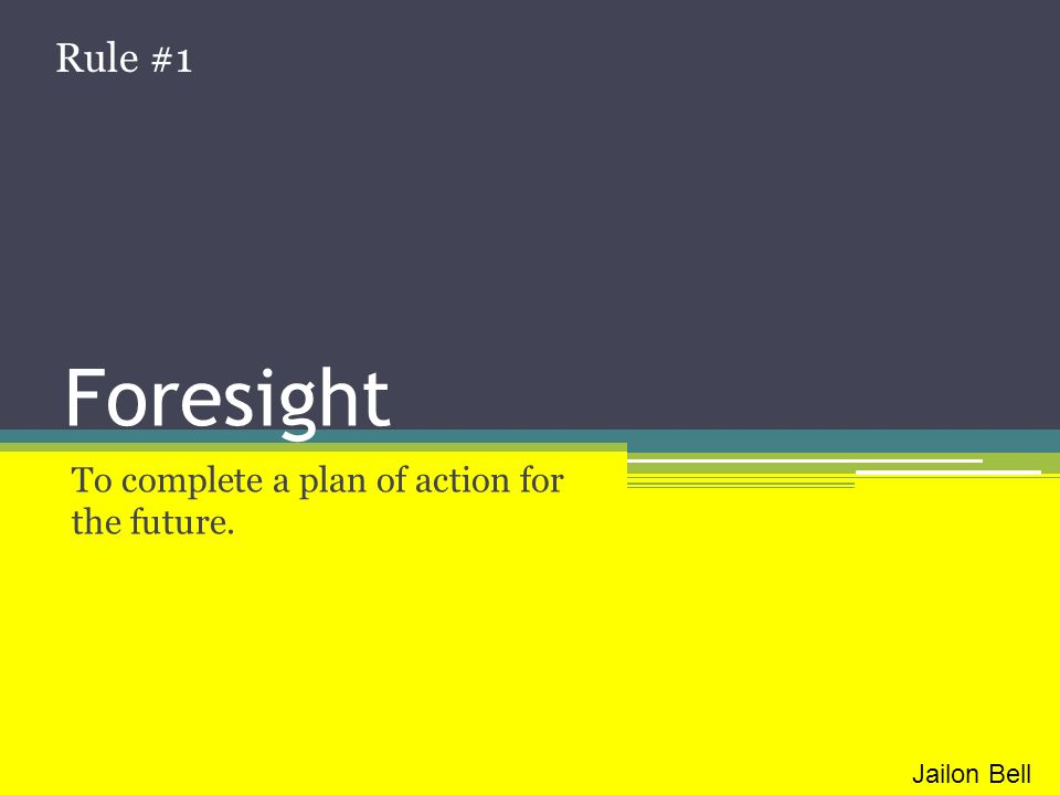 To complete a plan of action for the future.