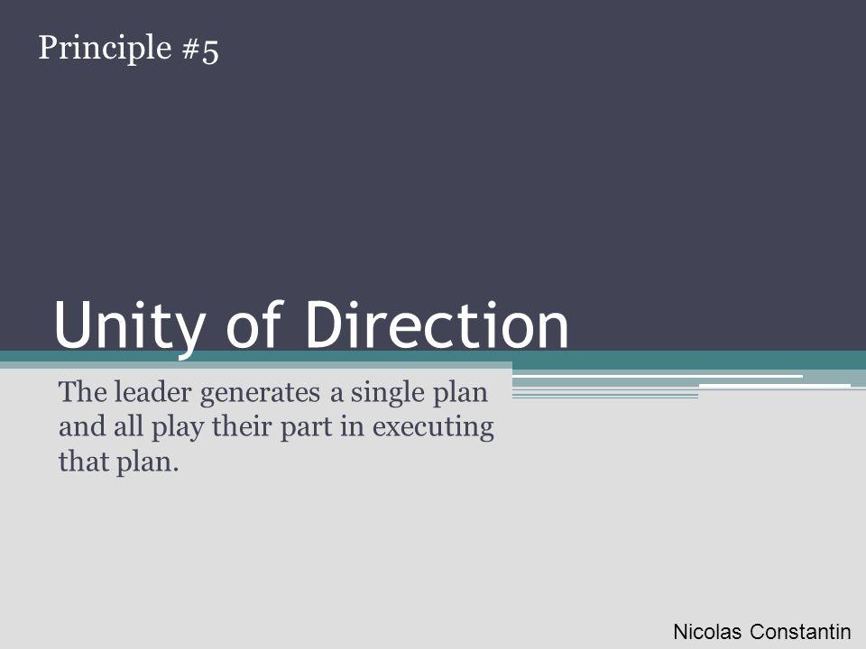 Unity of Direction Principle #5