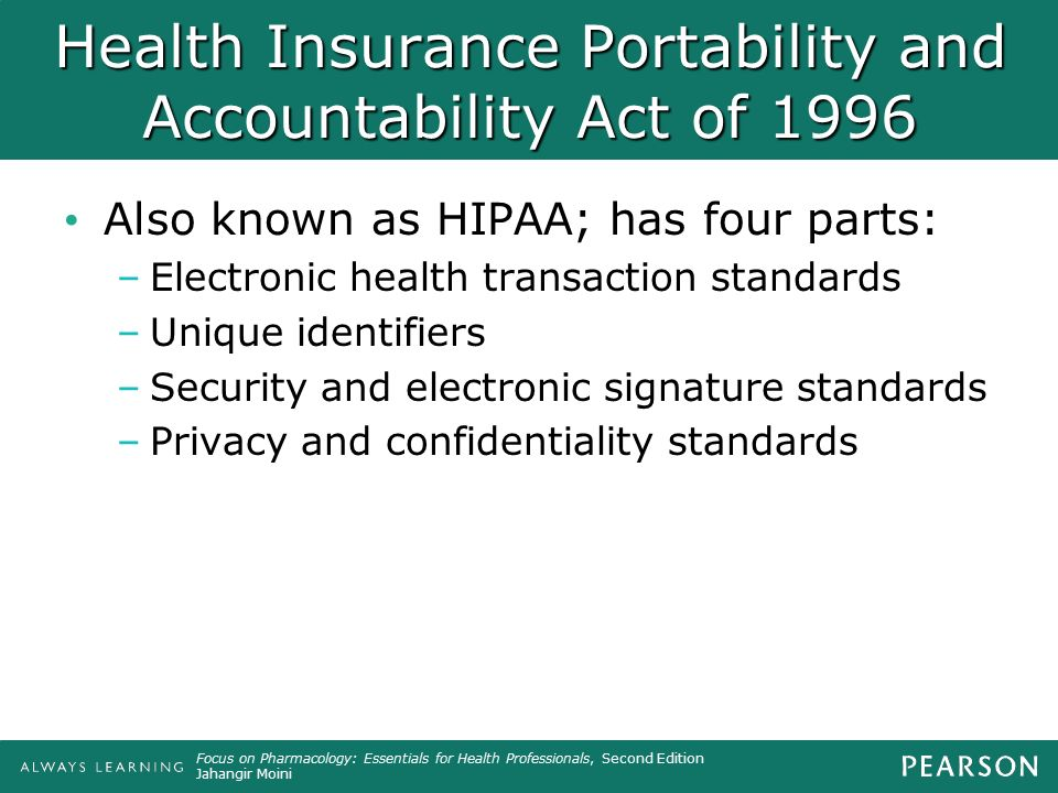 health insurance portability and accountability act of 1996 essay 1 the health insurance portability and accountability act (hipaa) of 1996 helpful tips table of contents 1 hipaa health insurance portability.