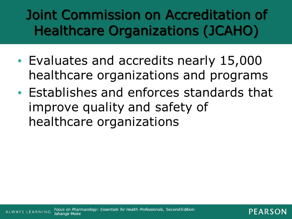 joint commission on accreditation of healthcare organizations The joint commission on accreditation of healthcare organizations, also known as jcaho, is the gold standard by which many types of healthcare organizations.