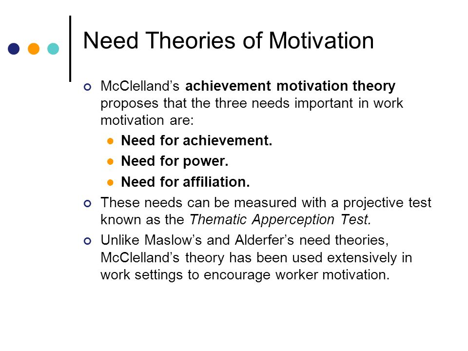 theories used to increase work motivation Learn the basics of applying the various motivational theories developed to help you get the results you want from your employees hertzberg's two-factor theory this theory considers two factors: motivation and hygiene motivation factors include receiving recognition for good efforts, enjoying work and having a career path.