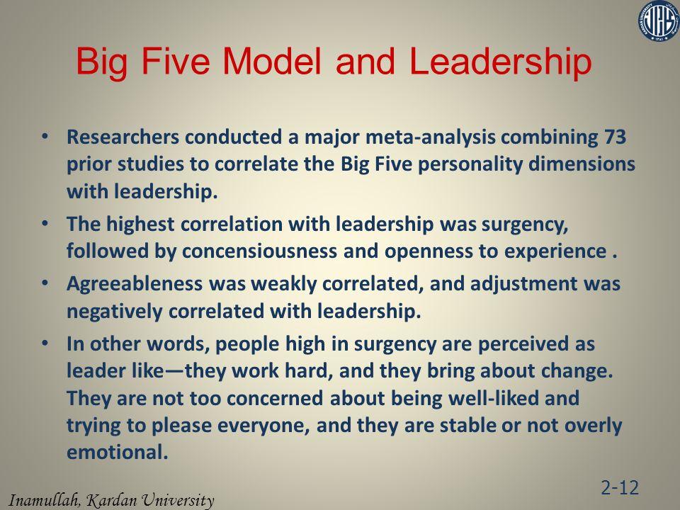 Big Five Model and Leadership