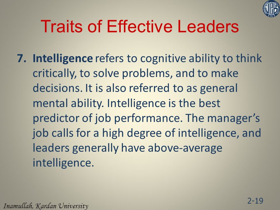 Traits of Effective Leaders