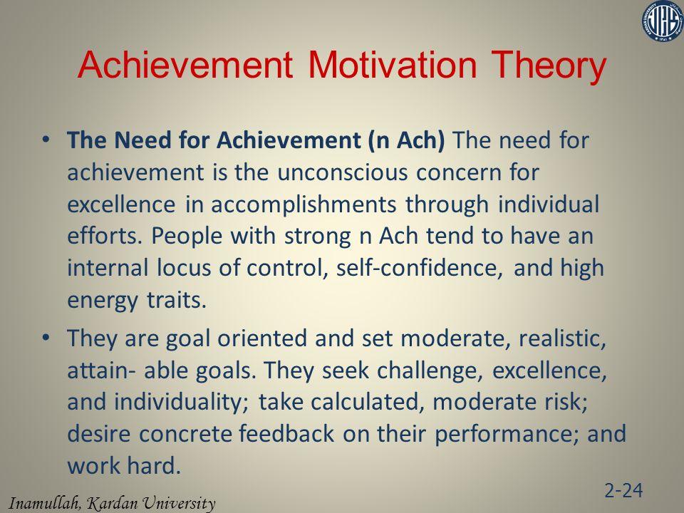 Achievement Motivation Theory