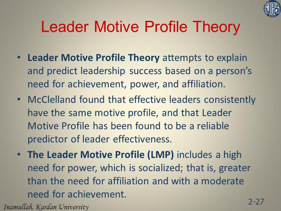 Leader Motive Profile Theory