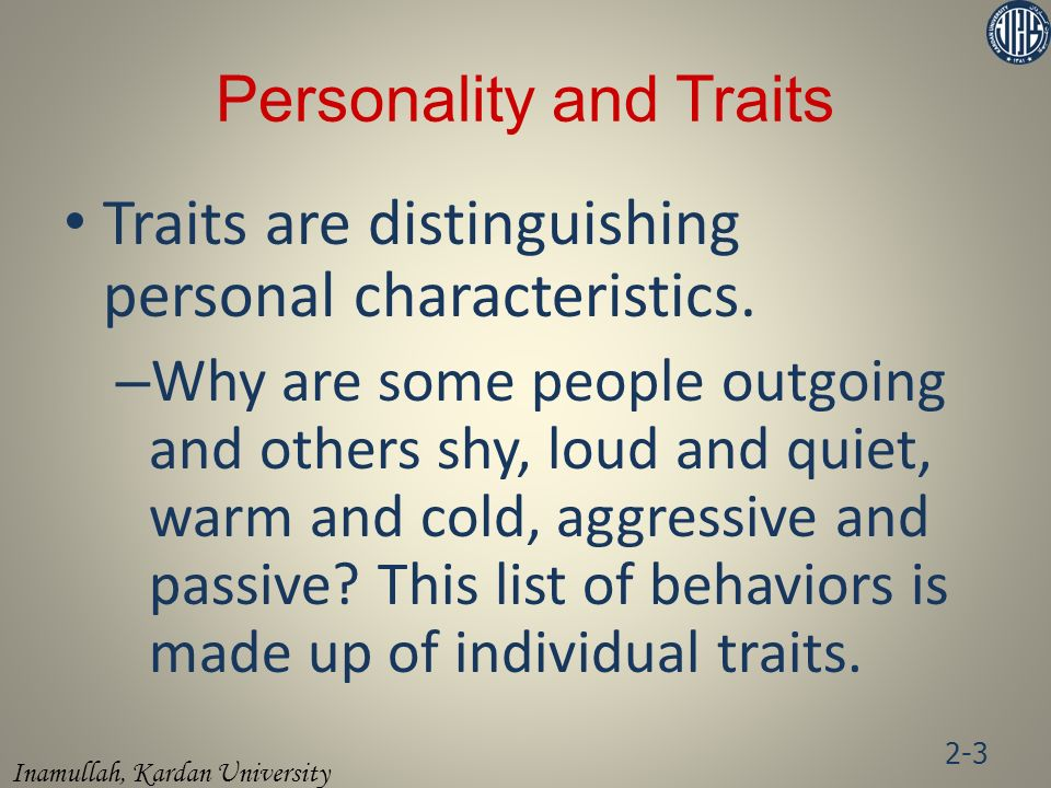 Personality and Traits