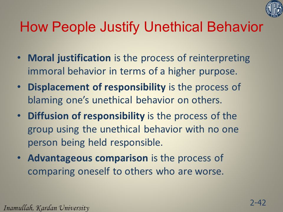 How People Justify Unethical Behavior