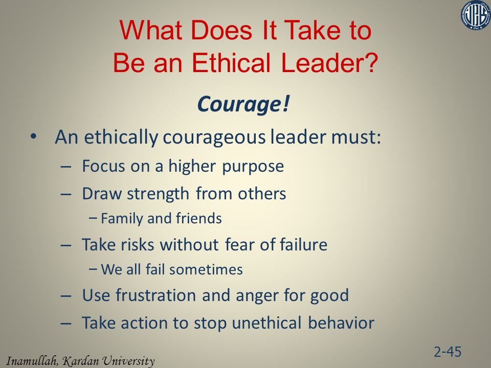 What Does It Take to Be an Ethical Leader
