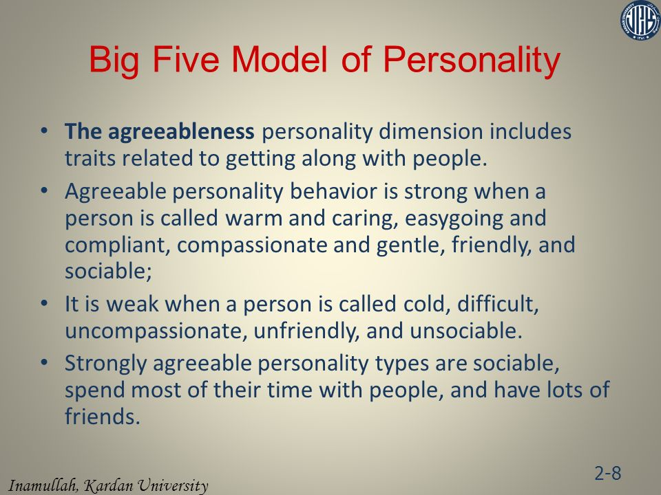 Big Five Model of Personality