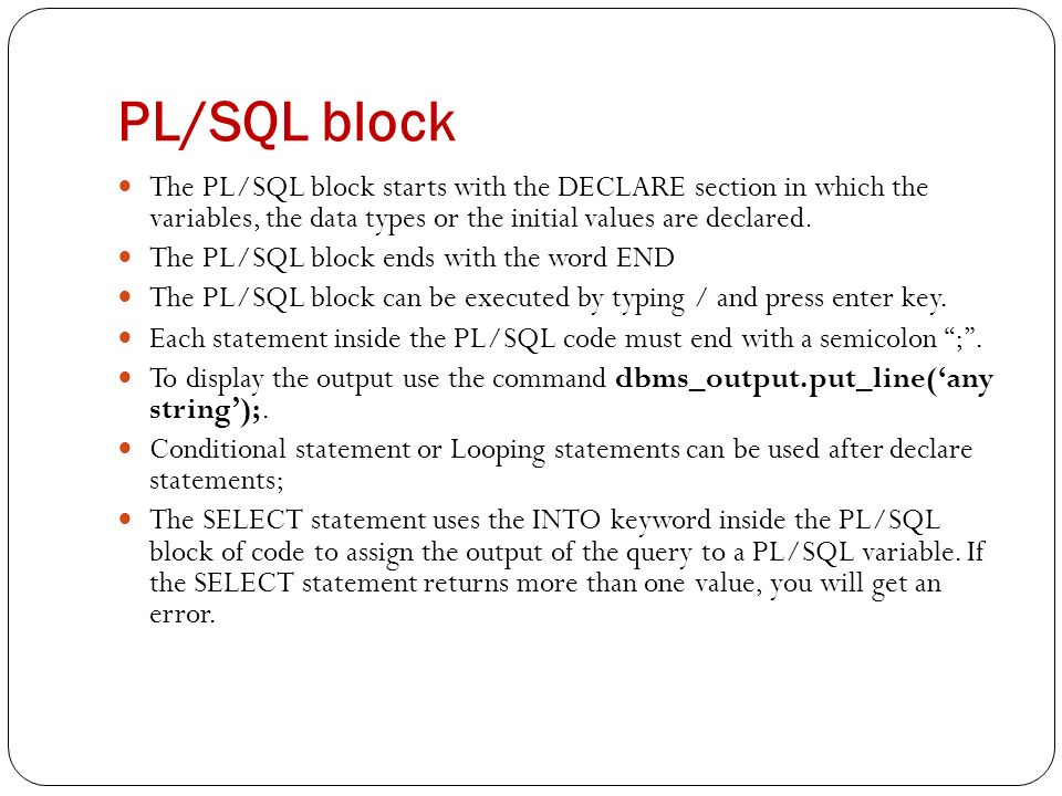 pl sql variable assignment select