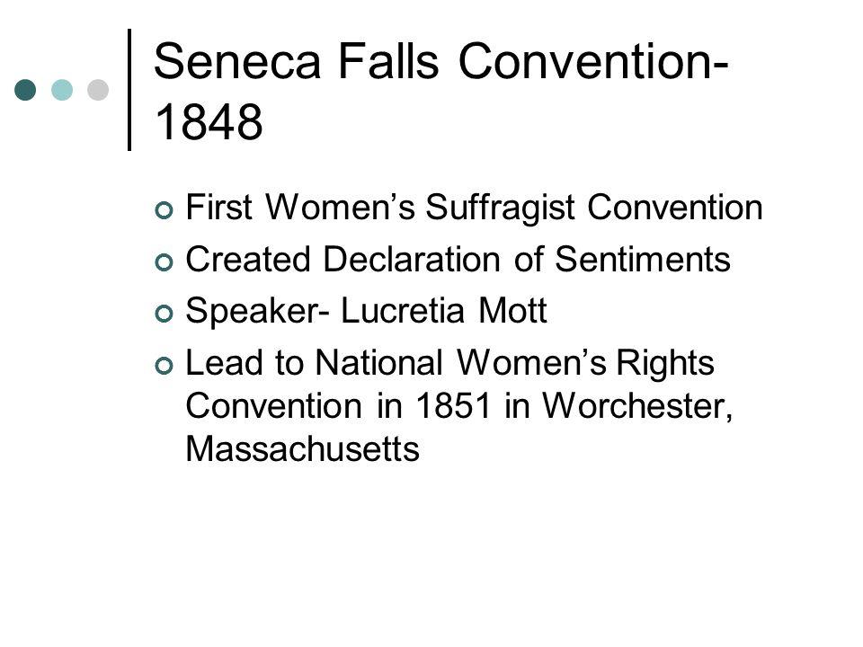 seneca falls convention 1848 summary