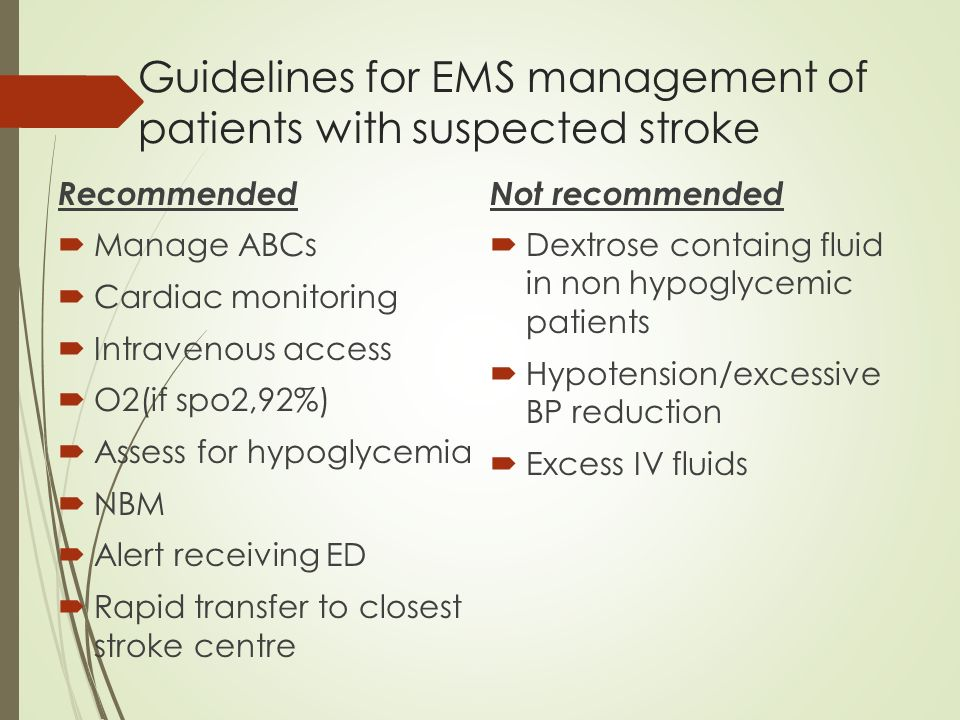 clinical guidelines for stroke management