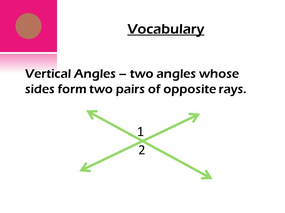 Two Angles Whose Sides Form Two Pairs Of Opposite Rays Ibov
