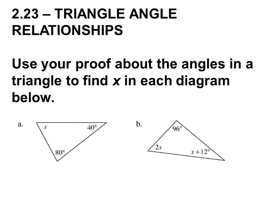 angle side relationship definition of cheating