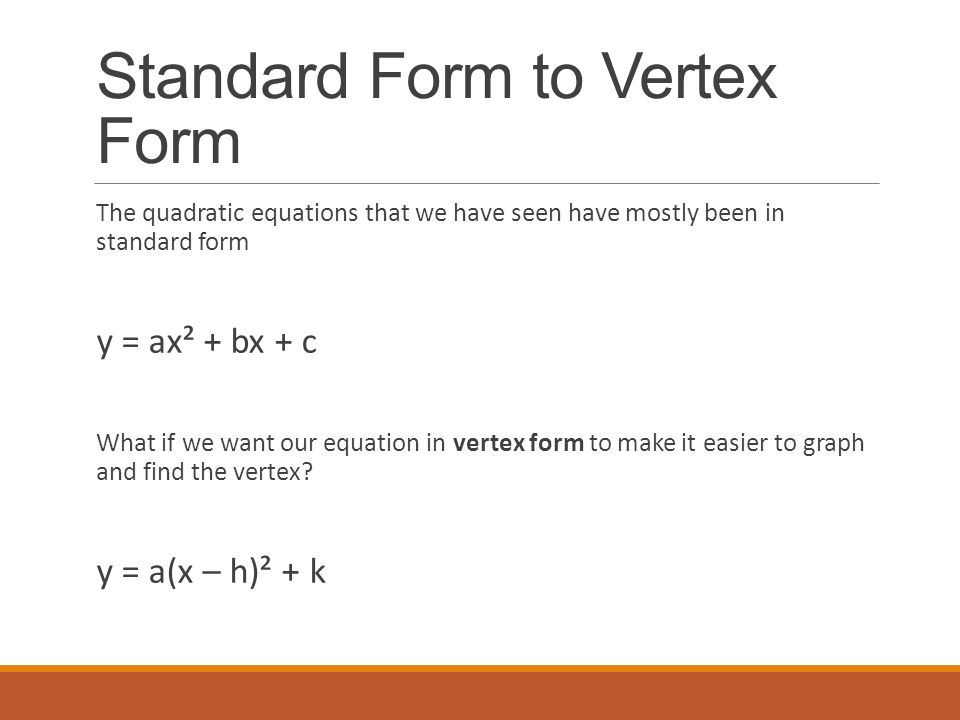 Converting the Equation of Parabola: Vertex and Standard Forms