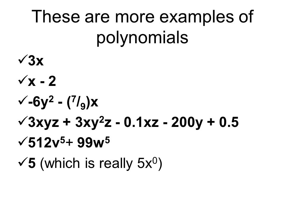Polynomials Examples Images Example Cover Letter For Resume