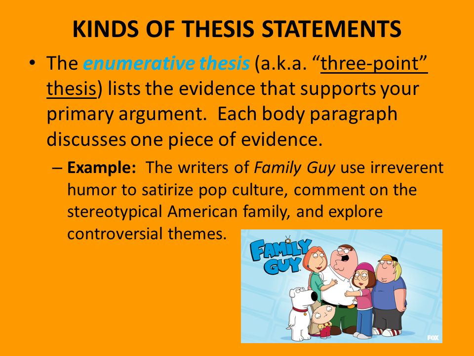 argument statements thesis