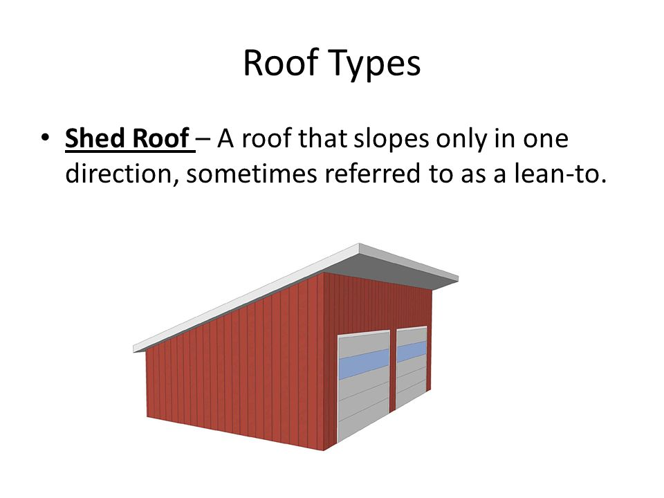 Roof types components terminology ppt video online for Type roof
