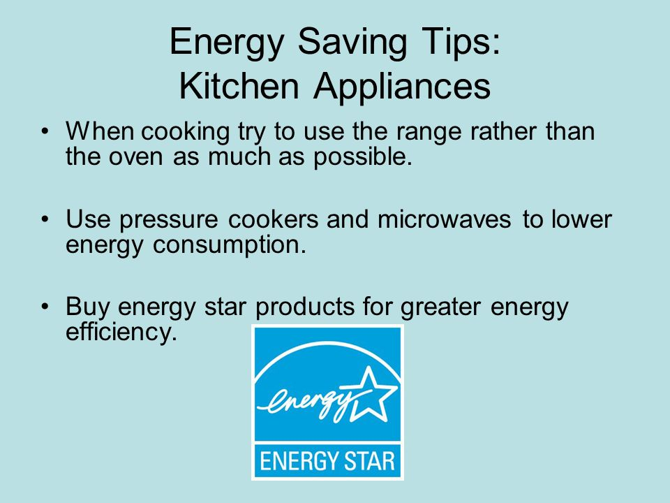 Energy Saving Home Appliances