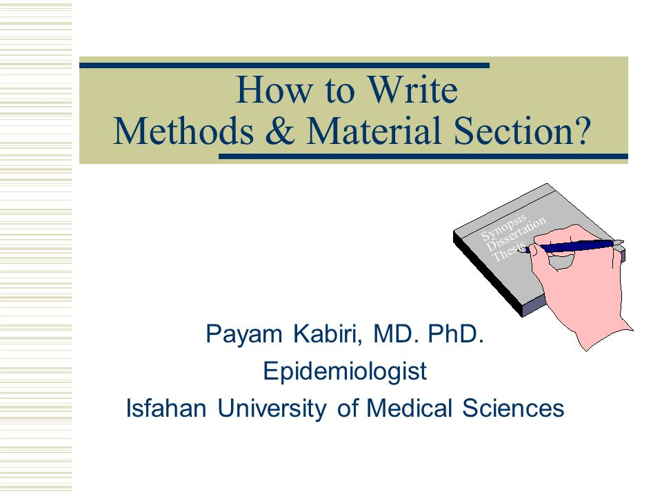 Writing of synopsis for phd thesis