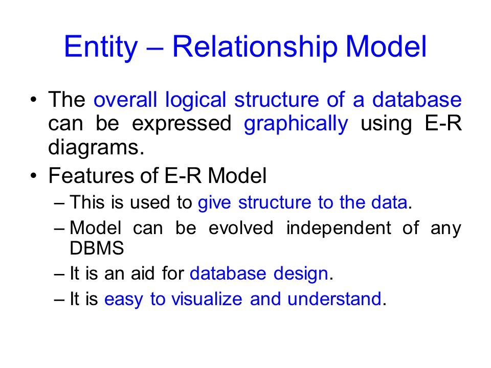 benefits of using entity relationship model
