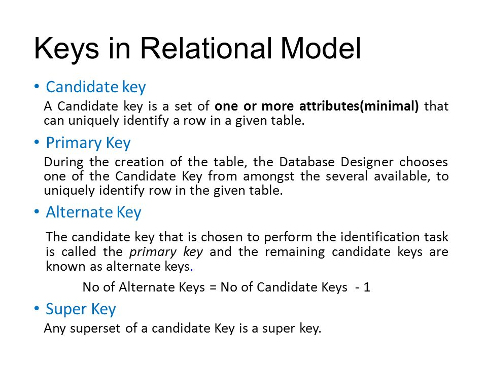 how to find super key in a relation