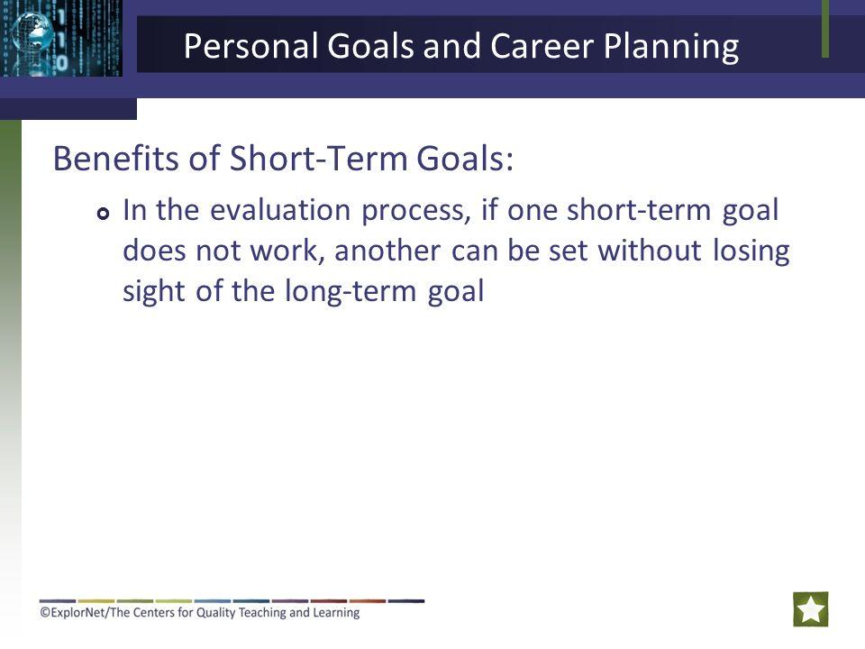 short term work goals