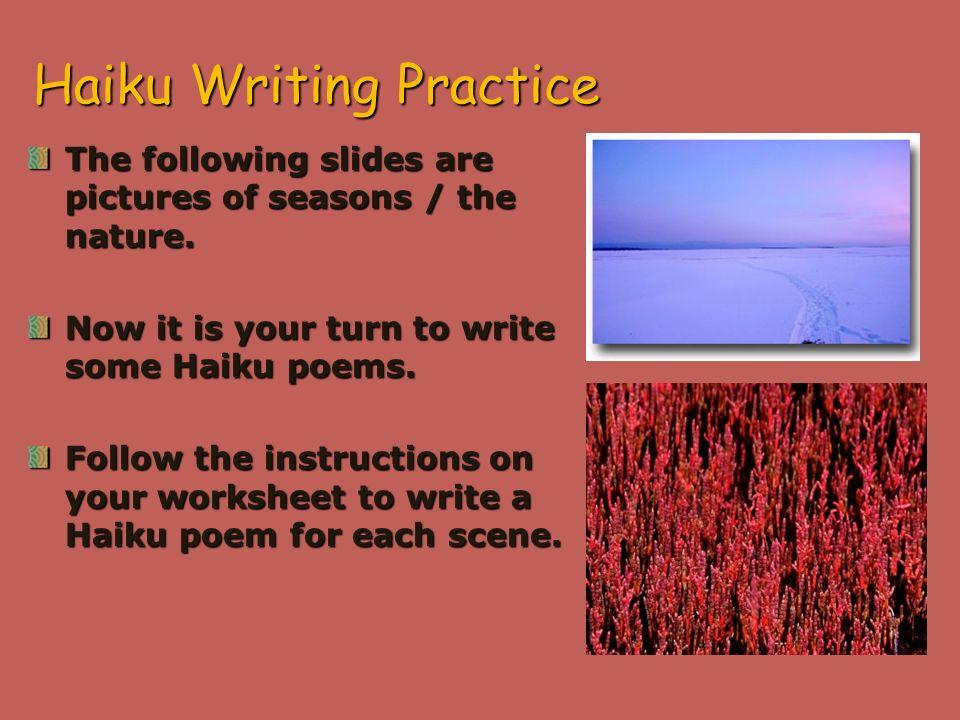 Haiku worksheet pdf