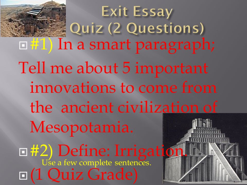 essay question mesopotamia (mesopotamia civilization research paper example | topics and well written essays - 1000 words) .