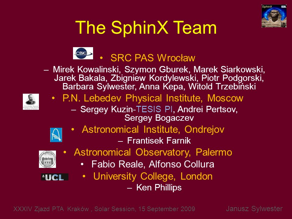 The SphinX Team SRC PAS Wrocław