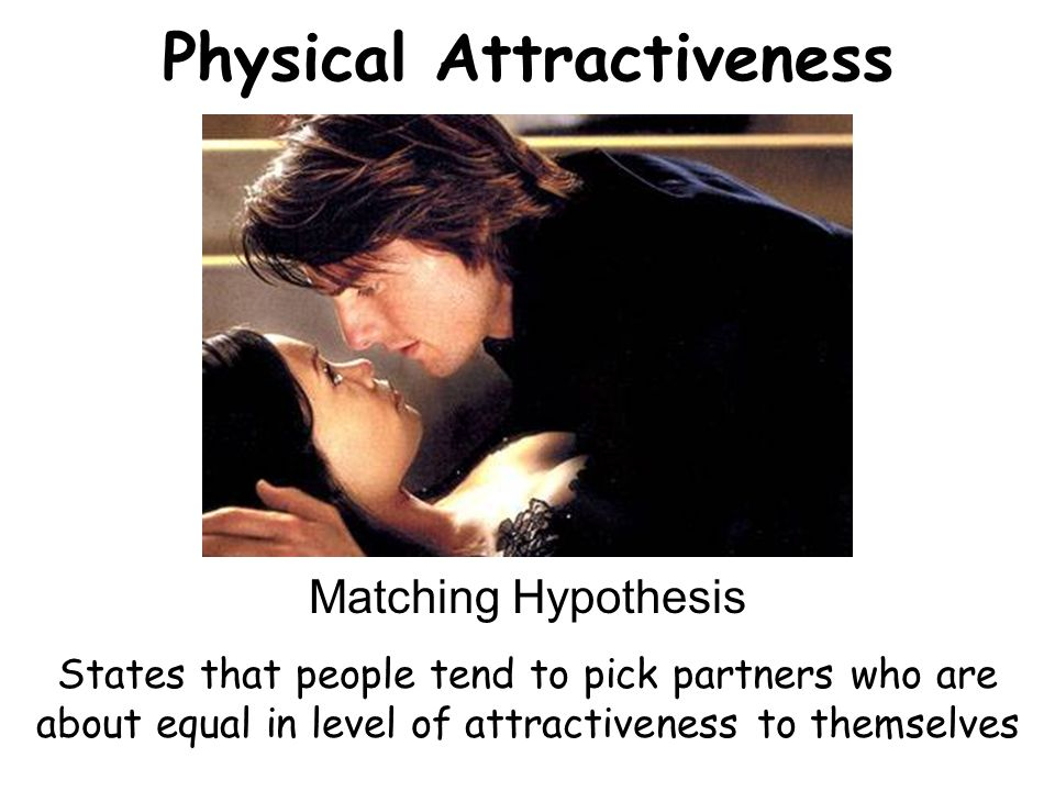 matching hypothesis dating