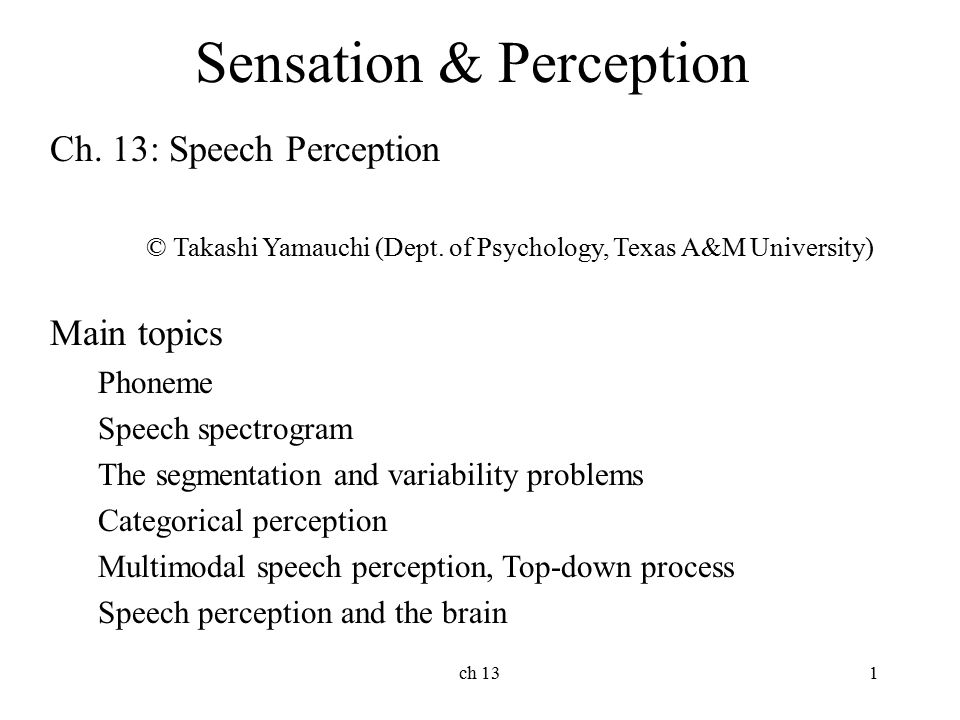 perception and sensation essay Suggested essay topics and study questions for 's sensation and perception perfect for students who have to write sensation and perception essays.