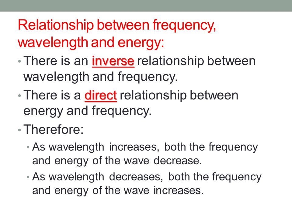 describe the relationship between frequency and wavelength of electromagnetic waves