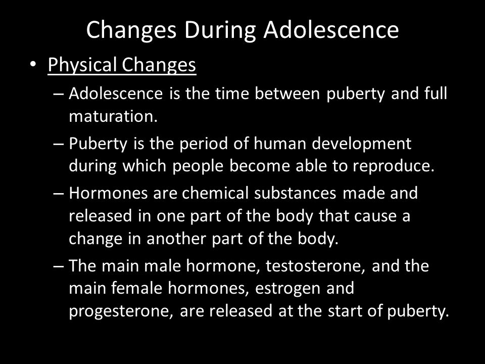 Puberty: Adolescent Male