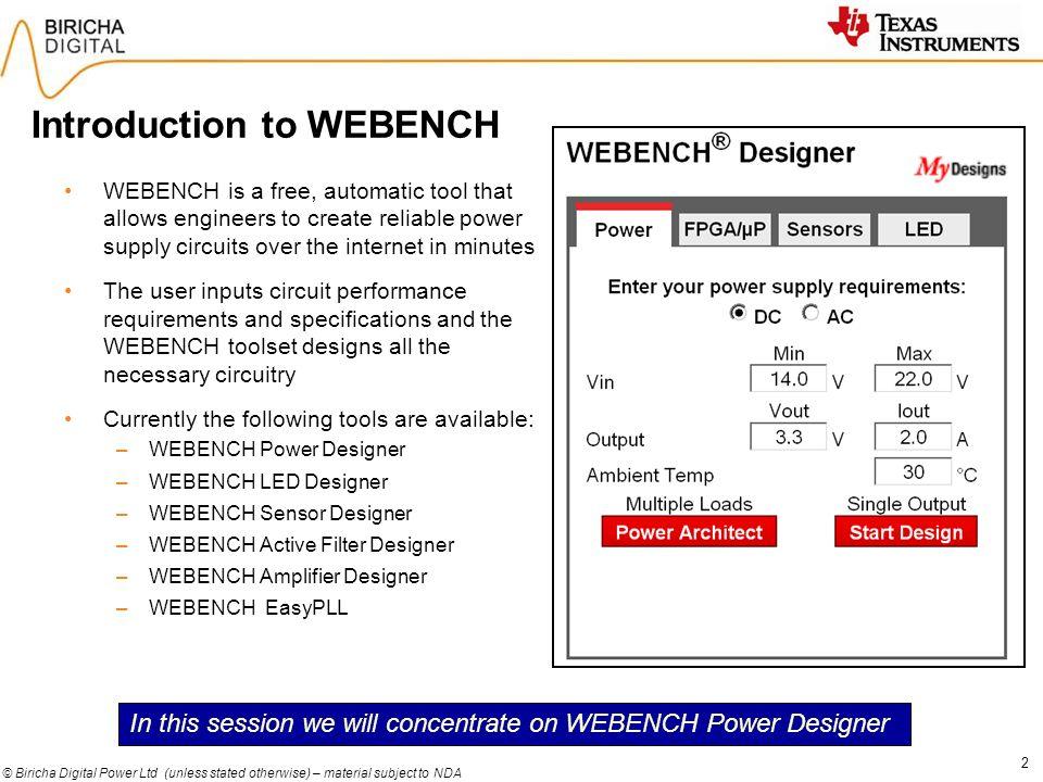 Webench Designer Tools Free Download