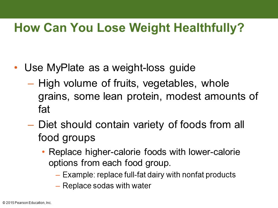 Weight management and energy balance ppt video online download 40 how can you lose weight healthfully ccuart Choice Image