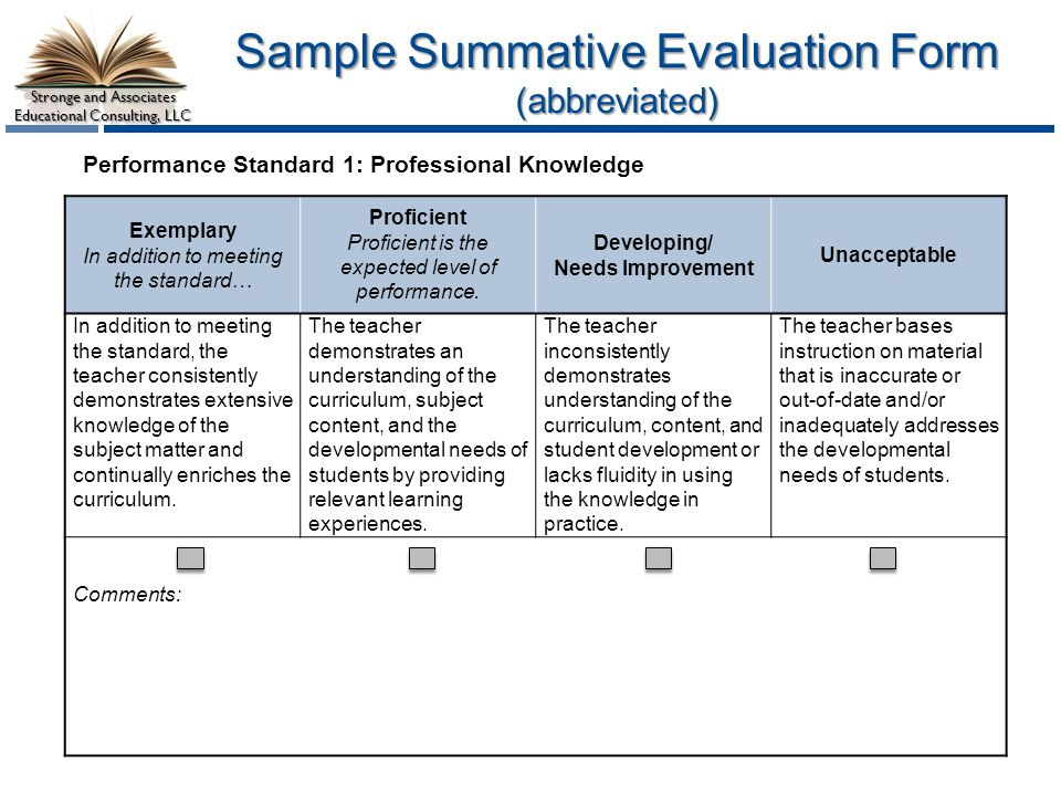 Teacher And Leader Effectiveness Performance Evaluation System