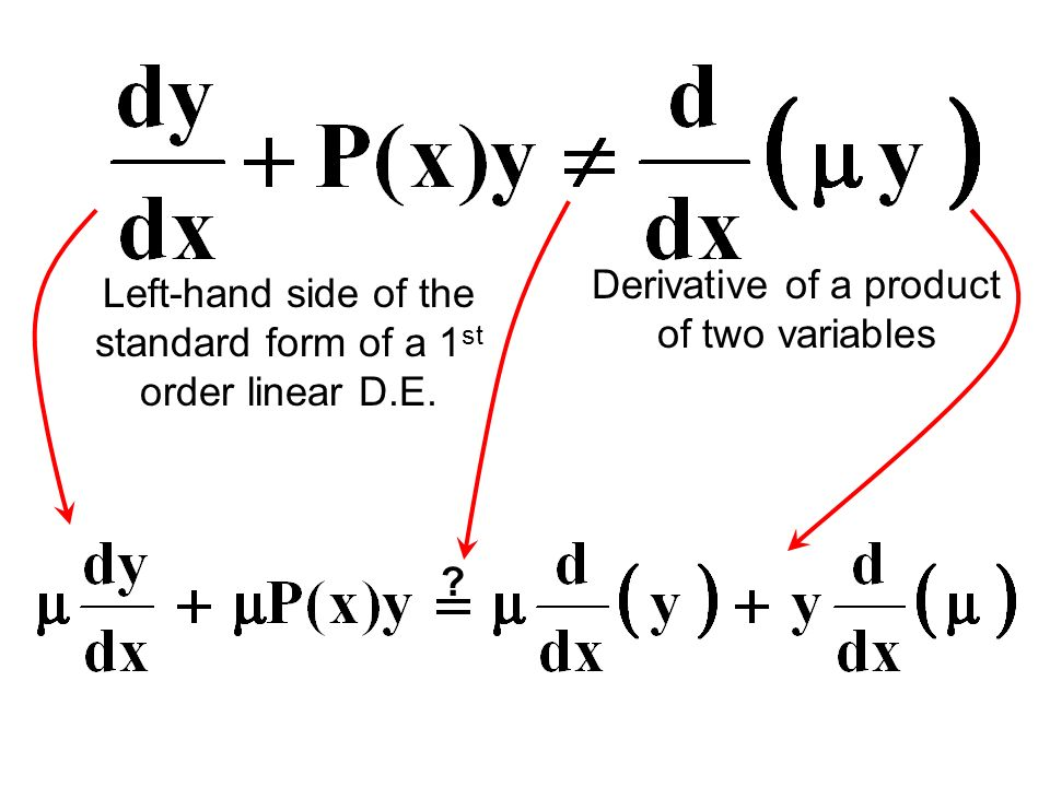 First Order Differential Equations Part 1 Ppt Video Online Download