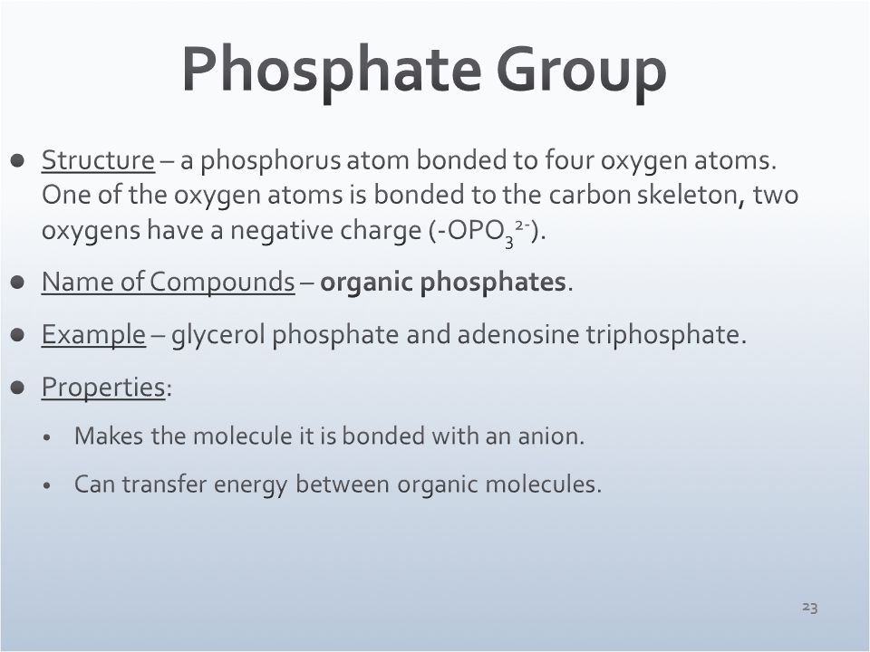 Inorganic Phosphate Carbon and the Molecul...