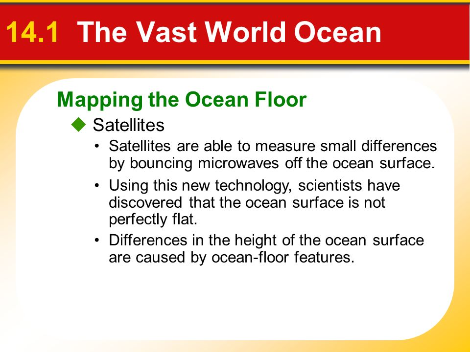 Chapter The Ocean Floor Who Is Stan Hatfield And Ken Pinzke - What technology allows us to map ocean floor features