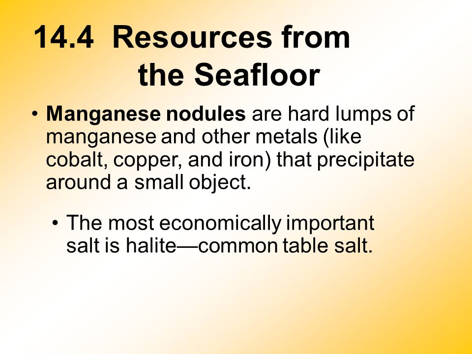 14.4 Resources from the Seafloor