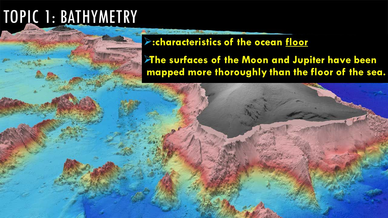 Ocean zones bathymetry ppt video online download for Ocean floor description