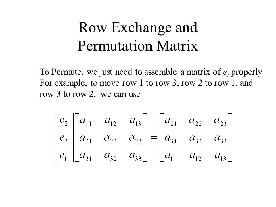 how to find permutation matrix