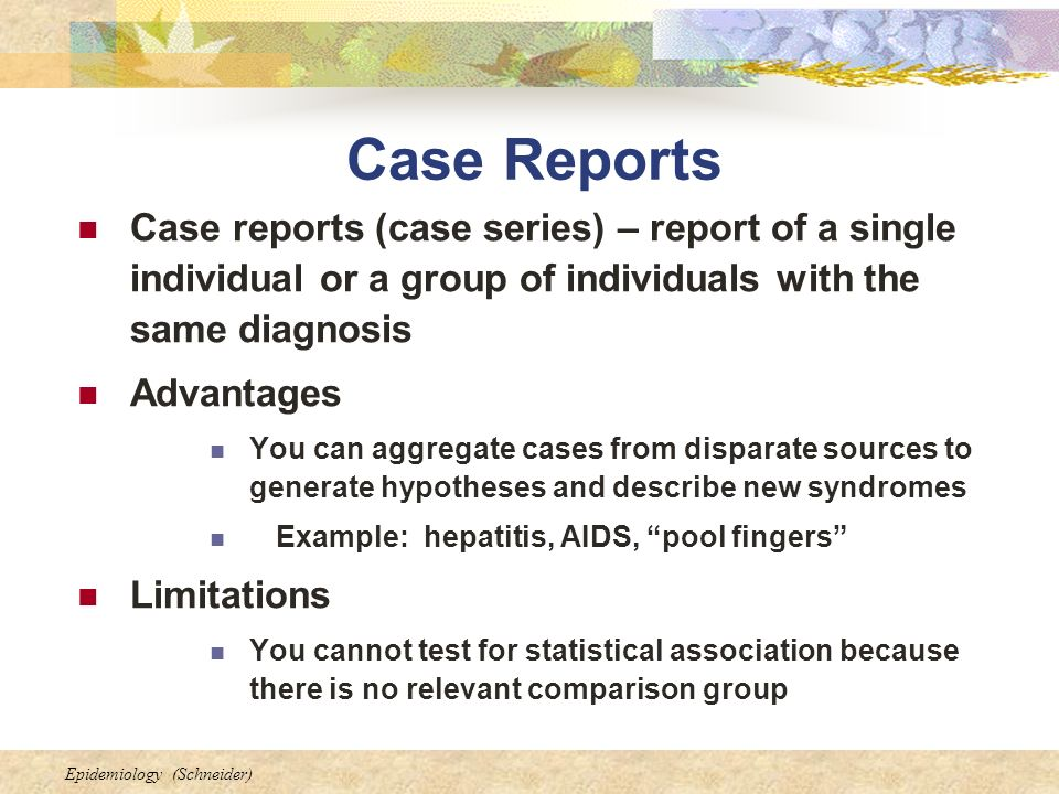Case Series and Case Reports - Medical Research Library of ...