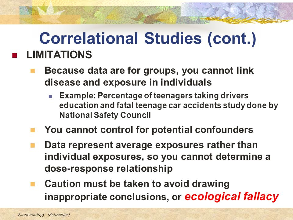 correlational ecological study design pdf