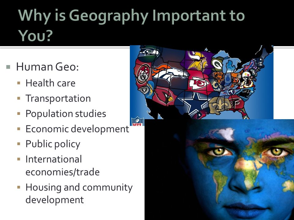 why human geography is important Human geography and human ecology: human geography  handbook of  economic geographyis the single most important statement of the.