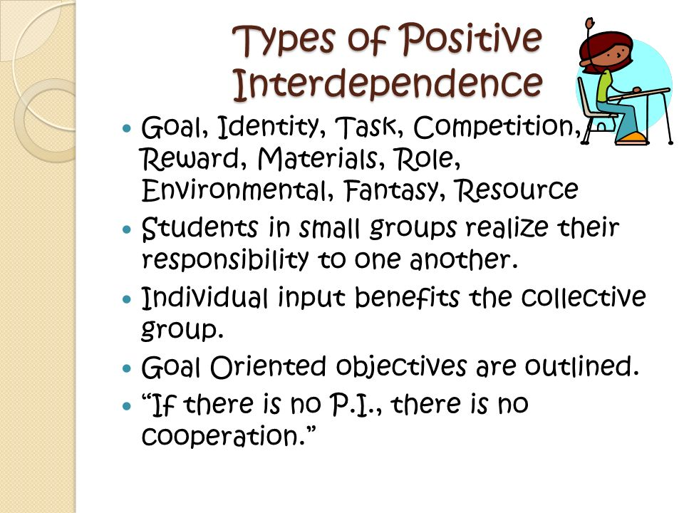 Types of Positive Interdependence