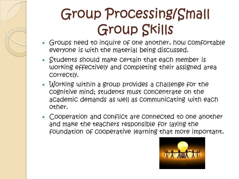 Group Processing/Small Group Skills