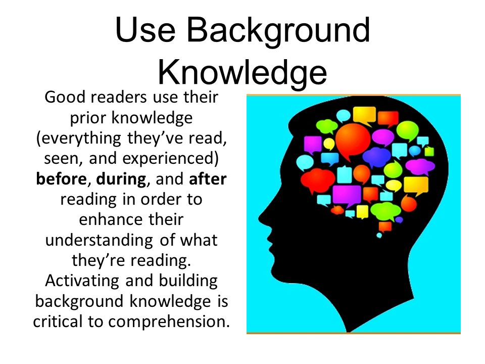 Use Background Knowledge